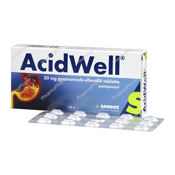 AcidWell 20 mg gyomornedv ellenallo tabletta 14x896472 2016 tn